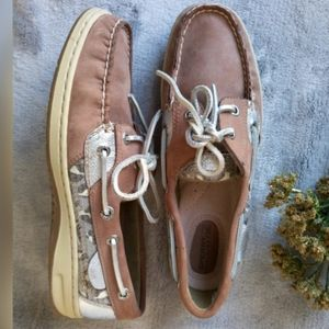 Sperry Top Sider Brown Suede Flat Boat US 7M